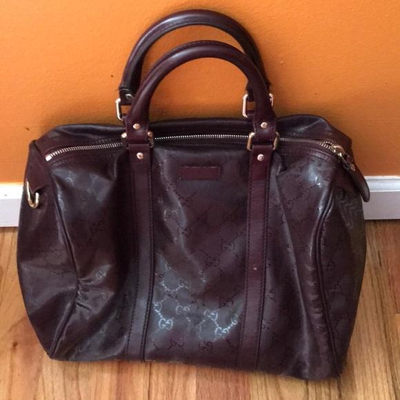 49643841d2b Gucci Handbags - Authentic Gucci Joy Imprime Crystal Boston Bag
